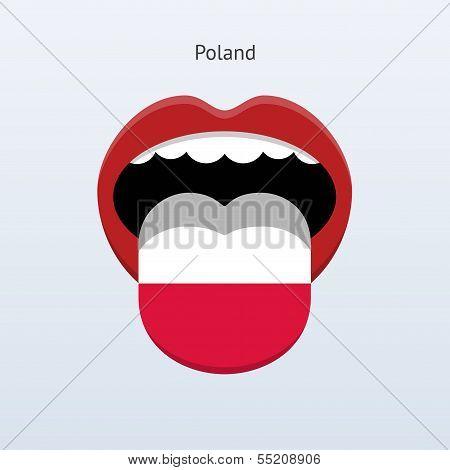 Poland language. Abstract human tongue.