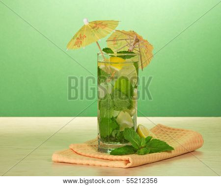 Cocktail from a citrus