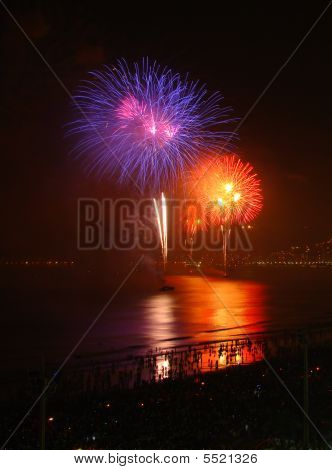 Fireworks On The Beach