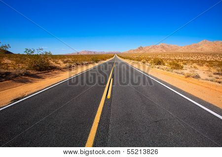 Mohave desert by Route 66 in California Yucca Valley USA