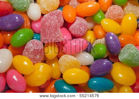 Colored sweet candy