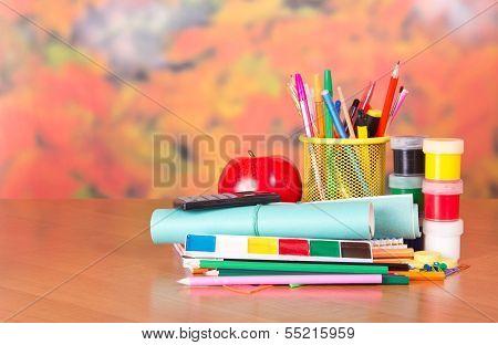 Lot of school things