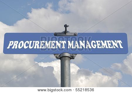 Procurement management road sign