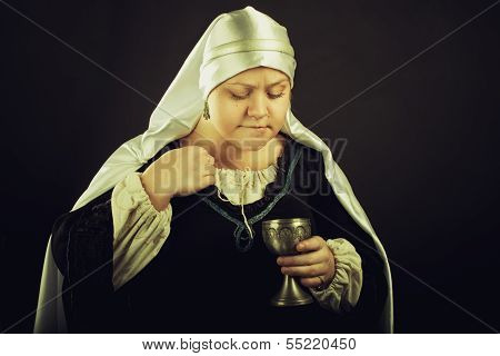 Medieval Woman With Goblet