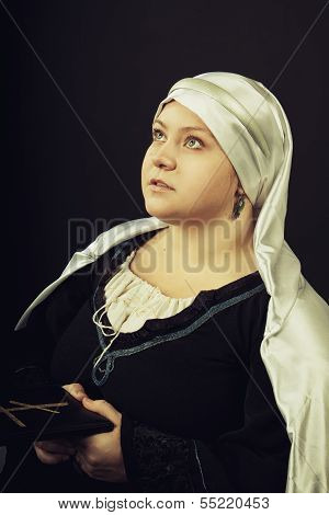 Medieval Woman With Bible