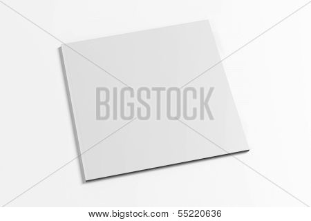 Blank Square Magazine Isolated On White