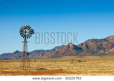 Windmill in the Flinders Ranges, South Australia
