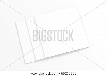 Blank Square Magazine Isolated On White