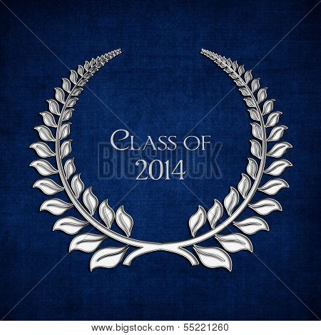 silver laurel for graduation 2014