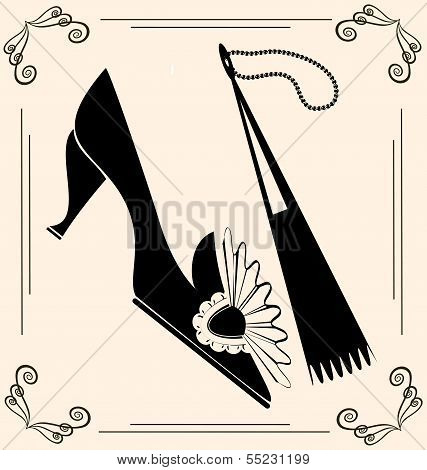 vintage shoe and fan