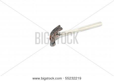 The Hammer On White Background.