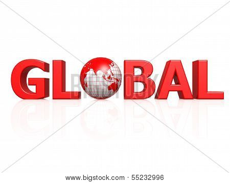 Global with globe