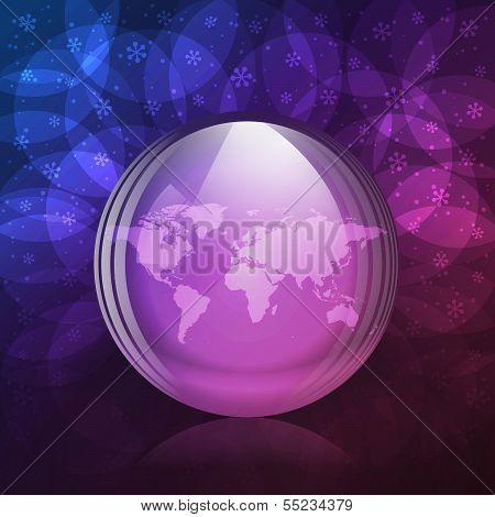 Luminescent snow globe