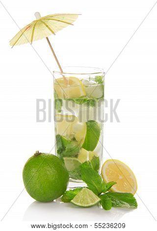 Glass of a cold mojito