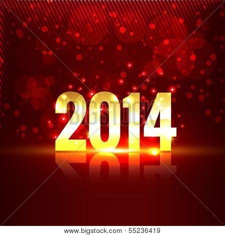 Ilustración de estilo hermoso brillante feliz año nuevo