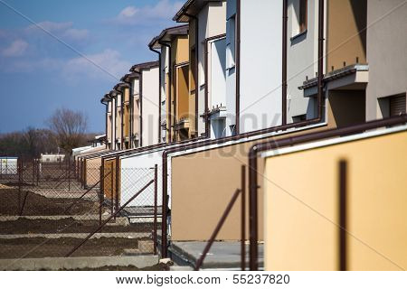 Suburb Houses In A Row