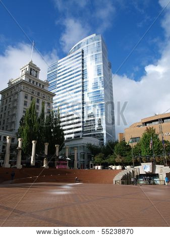 Pioneer Square In Portland, Oregon, Usa