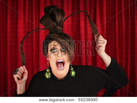 Screaming Drag Queen Pulling Hair