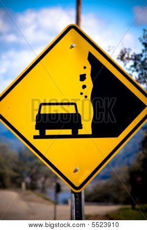 Falling Rock Street Sign