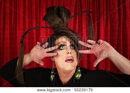 Eccentric Drag Queen Looking Up