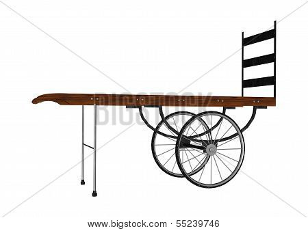Vintage Luggage Hand Cart