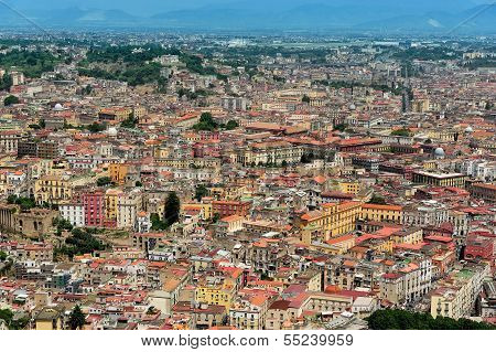 Aerial View Of  Naples, Italy