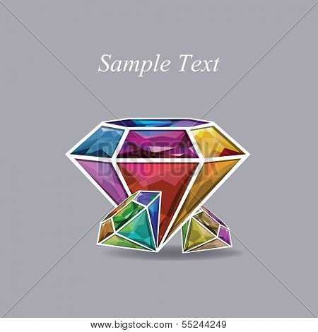 Abstract colorful diamond  vector illustration