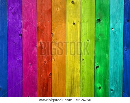 Wooden Fence Board Background