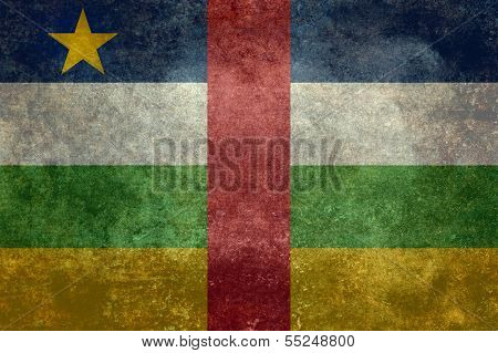 Central African Republic flag, distressed version
