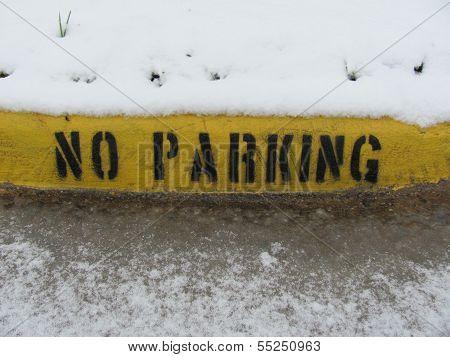 No Parking Curb