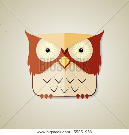 Cute little brown and light yellow owl