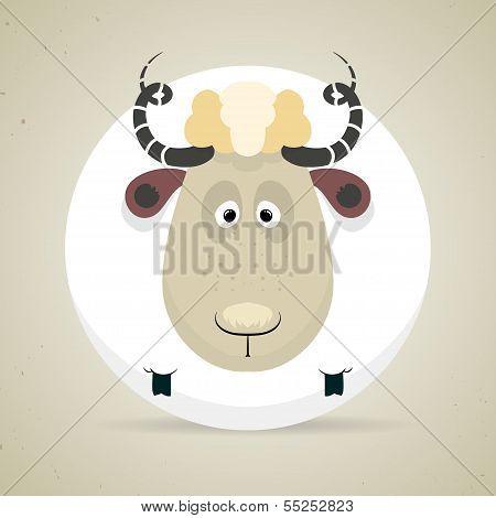 Cute smiling sheep