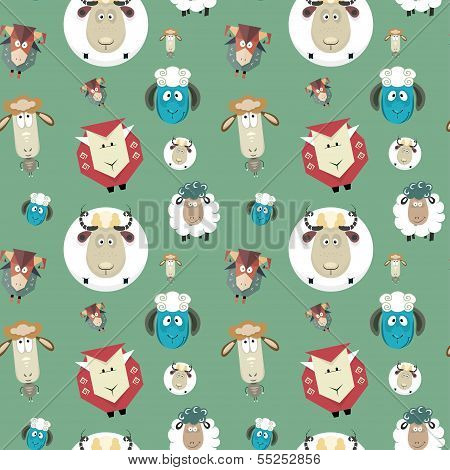 pattern of  funny sheeps