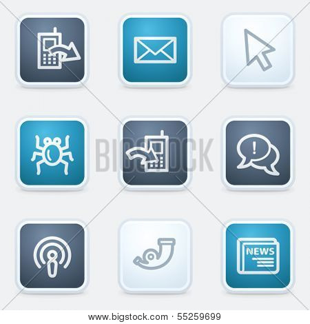 Internet web icon set 2, square buttons