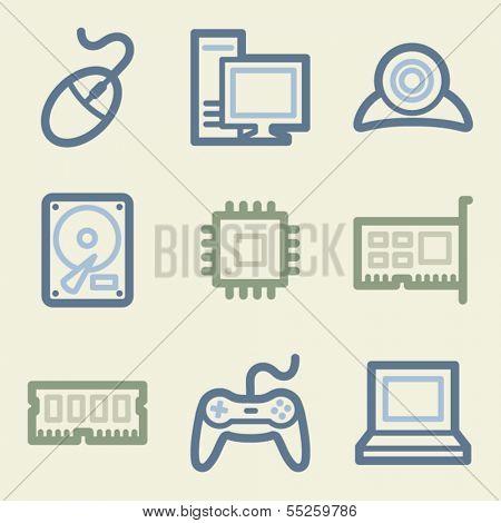 Computer web icons, money color set