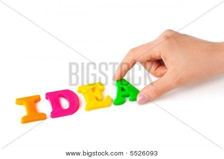 Hand und Word Idee