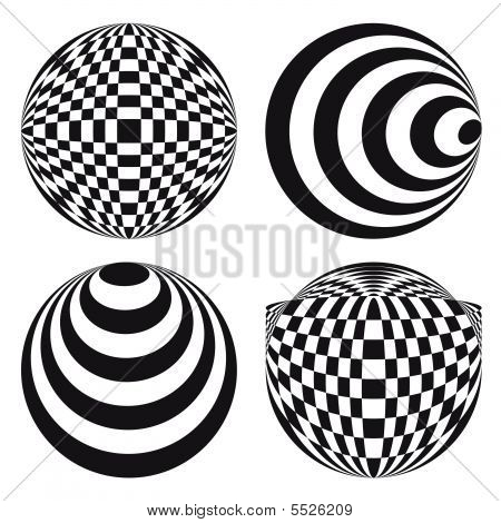 Spirograph Ornament Tattoo Design Elements