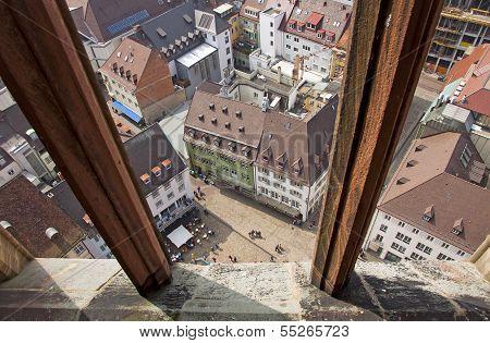 View Of Buildings In Freiburg Im Breisgau City, Germany