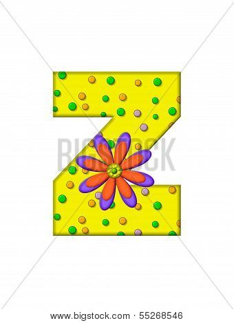 Alphabet Zany Dots Z
