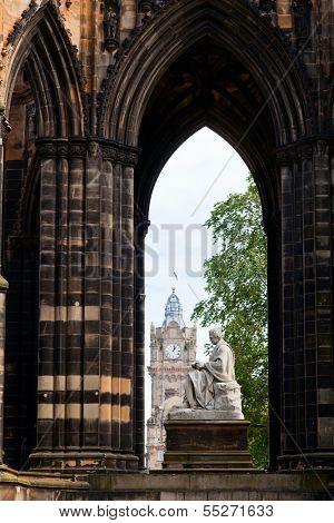 Victorian gothic monument to Scottish author Sir Walter Scott in Edinburgh