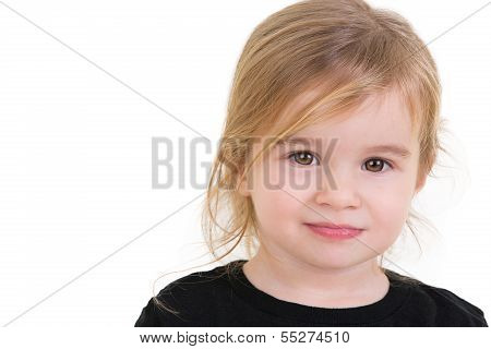 Cute Toddler Looking In To Your Eyes Fearless