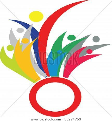 Group of business people simbol in Asean