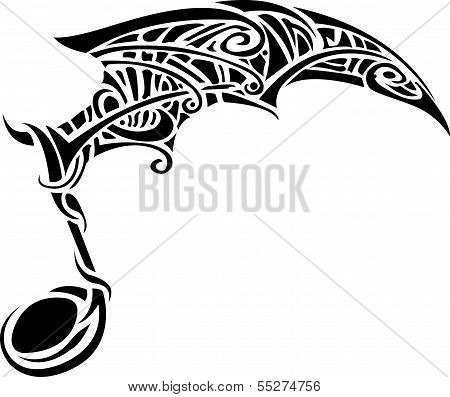 musical notes tribal with on a white background