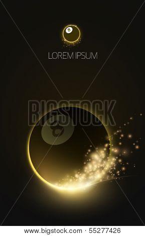sparkling vector snooker ball
