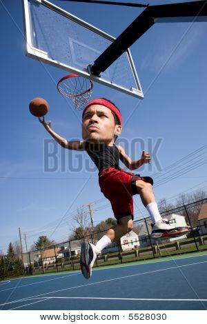 Big Head Basketball Player