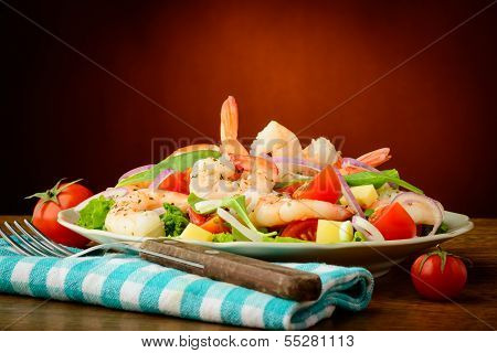 Seafood Salad With Prawns