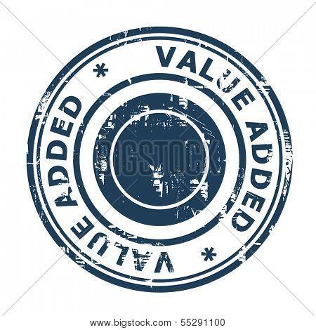 Value added business stamp isolated on a white background.