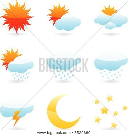 Isolated Weather Icons