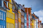 Nyhavn buildings in Copenhagen, Denmark.