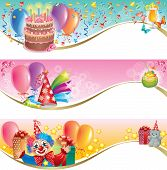 stock photo of clown rose  - Decorative birthday banners - JPG